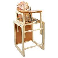 Детский стульчик для кормления МАСЯ Кошки (45116)