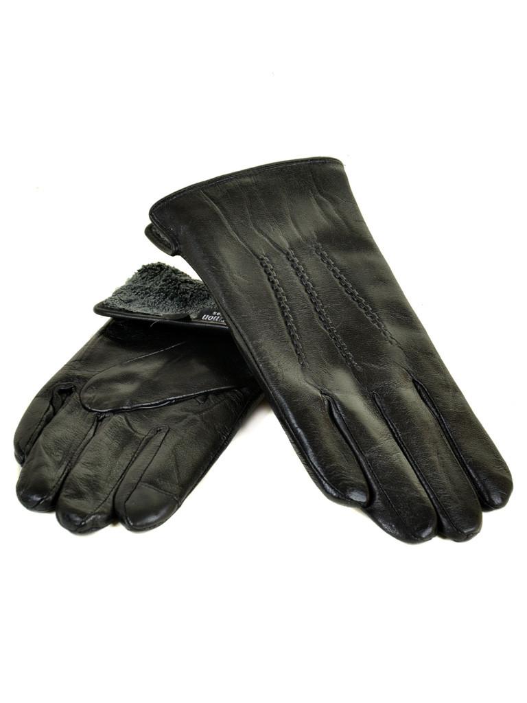 PODIUM Перчатка Мужская кожа M21-17/1 мод3 black махра