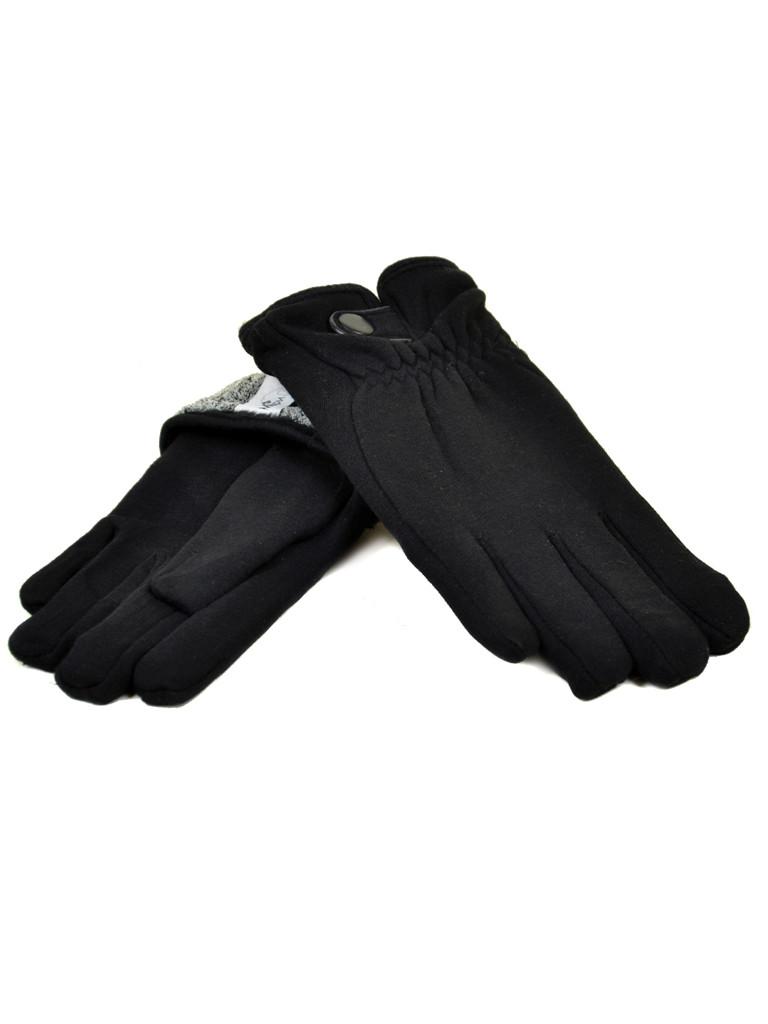 PODIUM Перчатка Мужская стрейч M1/17 мод1 black махра Распродажа