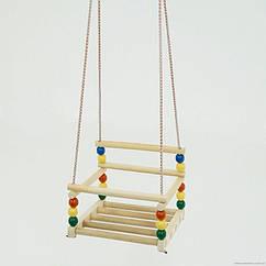 Детская качеля подвесная (113) пластик - дерево