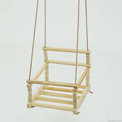 Детская качеля подвесная (136) деревянная