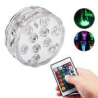 ZANLURE10светодиодов16цветовПодводный свет Поплавок Лампа Беспроводной Дистанционное Управление Рыбалка Лампа 3 х ААА-1TopShop