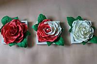 Триптих, модульные картины 3д розы, подарок на новый год