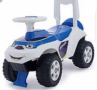 "Детская машинка-каталка (толокар) Doloni ""Полиция"" (бело-синий) 0141/11"