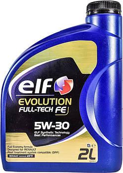 Моторное масло ELF Evolution Fulltech FE 5W30 1л. 2 л
