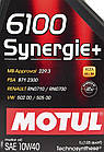 Моторное масло Motul 6100 Synergie+ 10W-40 1 л, фото 2