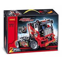 """Конструктор 2 в 1 Decool 3360 (аналог Lego Technic 42041) """"Гоночный грузовик"""", трейлер, машинка, 608 деталей"""