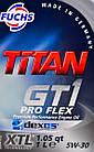 Моторное масло Titan GT1 Pro Flex XTL 5w30 1л., фото 2