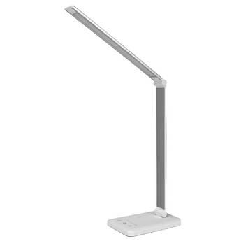 Настольная лампа ID&ND LED светильник с беспроводной зарядкой QI 2 в 1 USB Silver
