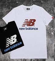 Белая мужская футболка New Balance M