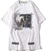 Off White футболки белые L