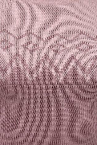 Свитер женский. В'язаний светр. Джемпер женский 169 пудра-фрез, фото 2