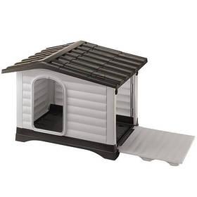 Пластиковая будка Ferplast Dogvilla 11 с открываемой боковой панелью, 111x84x79 см