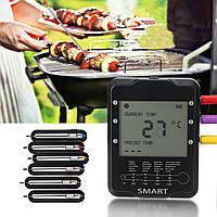 Беспроводная Smart Meat Digital Термометр 6/4 Зонды WiFi Bluetooth-гарнитура Термометр-1TopShop