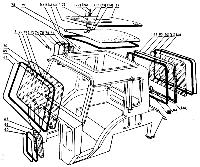Стекло боковое Т-16
