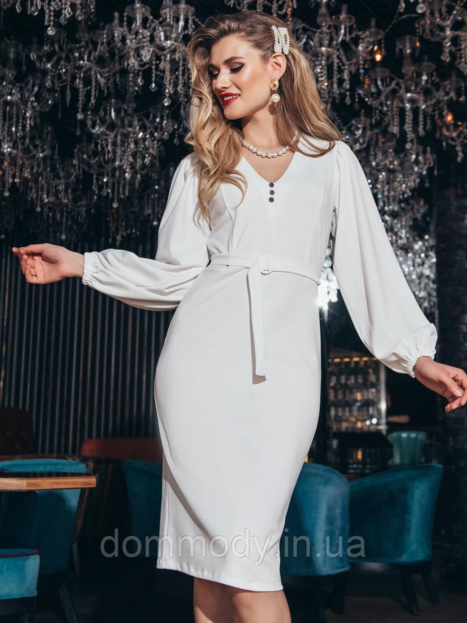 Платье женское из фактурного креп-дайвинга