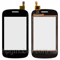 Touchscreen (сенсорный экран) для Alcatel One Touch 4015 POP C1 Dual Sim, черный, оригинал
