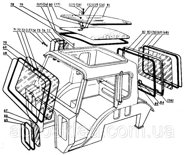 Стекло переднее Т-16