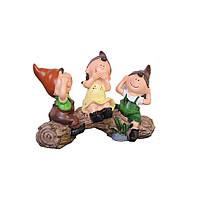 3pcs/setНескажите,что не слушайте, не смотрите три без милой смолы, сидящих детей Кукла Home Pastoral Decorations-1TopShop