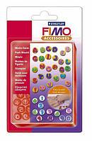 """Молд силиконовый FIMO """"АВС и 123, 40 форм 1на1 см"""""""