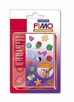 """Молд силиконовый FIMO """"Бижутерия"""" 14 форм 1,5 x 1,5 см."""