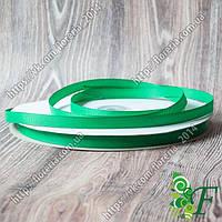 019-Репсовая лента 09мм за 3м зеленая