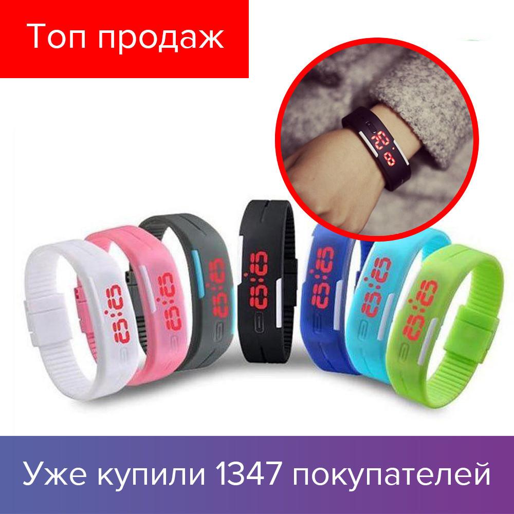 Спортивные часы Led браслет, водонепроницаемые | Резиновый браслет, фото 1
