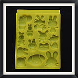 Молд силиконовый Звери (зайчики, кошки, собачки), фото 2