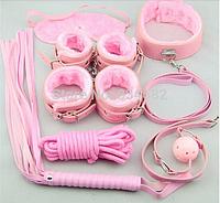 Набор БДСМ 7 предметов меховый розовый