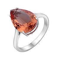 Серебряное кольцо Капля осени с синтезированным султанитом 17.5 000087957