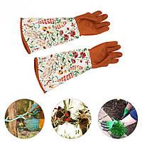 Сад Перчатки с длинным рукавом 1 пара рук Водонепроницаемы Обрезка обрезки Защита утолщенной Перчатки Набор -1TopShop