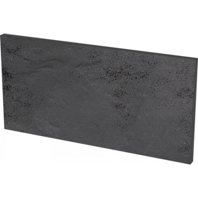 Плитка для ступени клинкерная Paradyz Semir Grafit podschodowe struktur 14,8 x 30 x 1,1