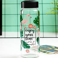 Боросиликатное стекло Фламинго Фрукты Шаблон Противотемпературная стеклянная чашка для воды-1TopShop