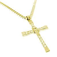 Хрест Домініка Торетто з ланцюжком Золотистий