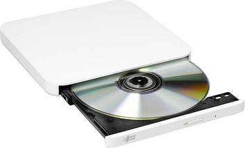 Внешний дисковод для ноутбука LG GP90NW70, White, DVD+/-RW, USB 2.0, переносной оптический привод, фото 2