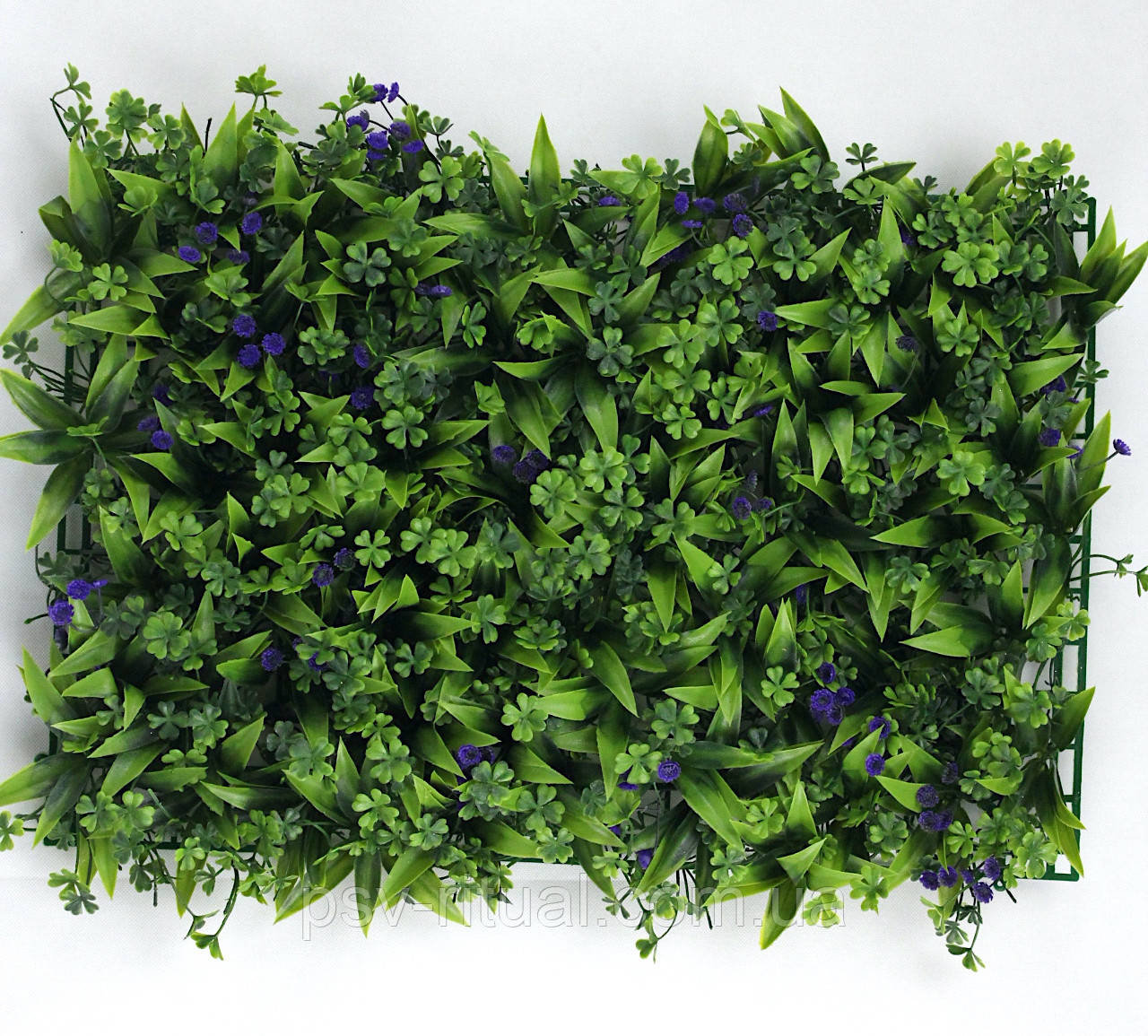 Трава искусственная №5 Фиолетовый цветок
