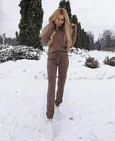 Теплый стильный ангоровый женский костюм