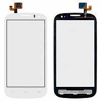Touchscreen (сенсорный экран) для Alcatel One Touch 5036 POP C5 Dual SIM, оригинал, белый