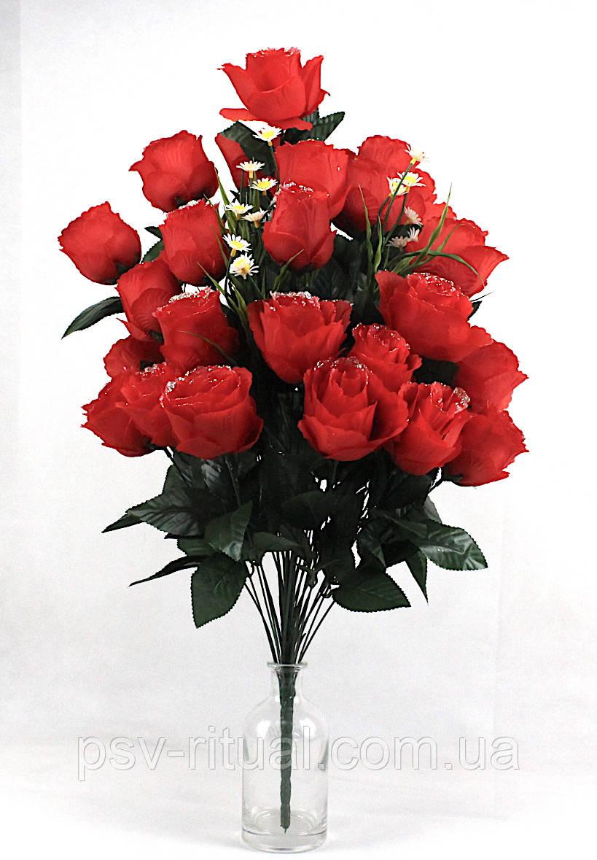 Роза великий бутон 36 голів 80 см
