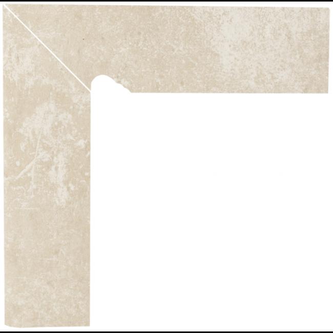 Плинтус керамический Paradyz Cotto Crema Cokol Dwuelementowy Schodowy Lewy 8.1 x 30