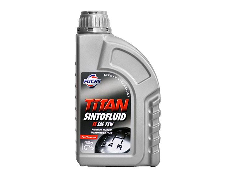 Синтетическое трансмиссионное масло Fuchs Titan Sintofluid FE GL-4 75W 1л.