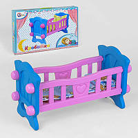 Кроватка для куклы Технок, розовая - 180452