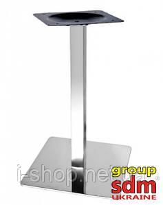 Опора для стола Нил,  высота 72 см, основание 40*40 см, нержавеющая сталь