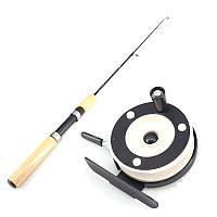 ZANLURE65CMЖелтаярукояткаEVAТелескопическая Рыбалка Род Reel Combo Mini Ice Рыбалка Rod Set-1TopShop