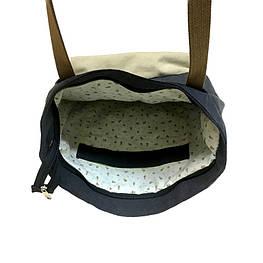 Эко-сумка с подкладкой, внутренний карман