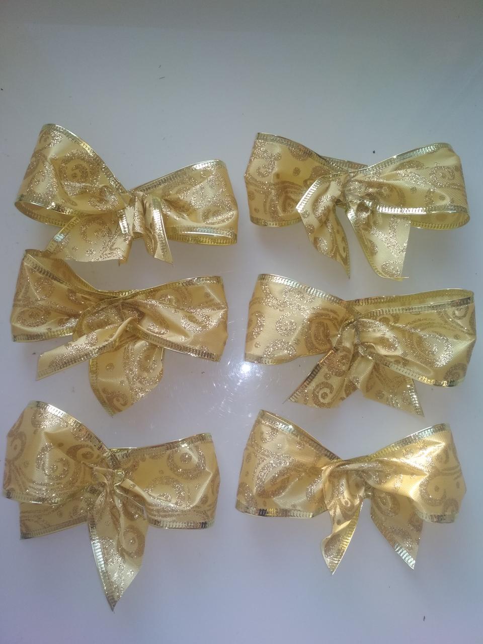 Банты декоративные большие ,золотая лента