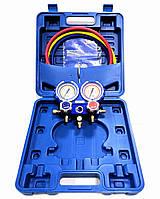 Манометрический коллектор VMG-2 R410A двухвентельный VALUE шланги 90 см (R410 407, 22, 134)