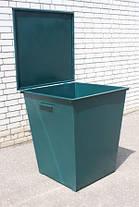 Изготовление металлических контейнеров для мусора, мусорных баков с крышкой, фото 2