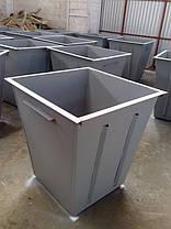 Изготовление металлических контейнеров для мусора, мусорных баков с крышкой, фото 3