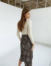 "Леопардовая шелковая юбка-миди ""Dalila"" на резинке, фото 3"